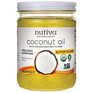 Nutiva Organic Coconut Oil, Buttery Flavor, 14 Ounce