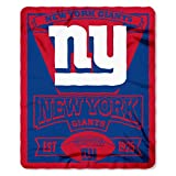 "NFL New York Giants Marque Printed Fleece Throw, 50"" x 60"""