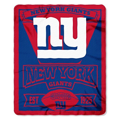 The Northwest Company 1NFL/03102/0081/AMZ NFL New York Giants Marque Printed Fleece Throw, 50