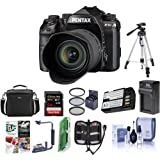 Pentax K-1 Mark II DSLR with HD D FA L 28-105mm F3.5/5.6 ED Lens - Bundle With 64GB SDHC Card, Camera Case, Tripod, Spare Battery, Compact Charger, Flip Flash Bracket, Software Pack, And More