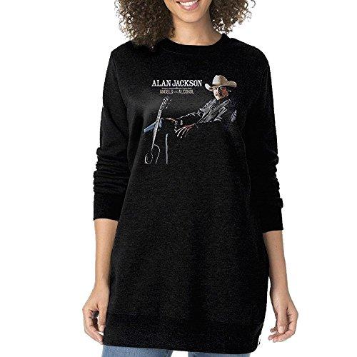 KIHOYG Women's Alan Jackson Angels Long Sleeves Sweatshirt Dress