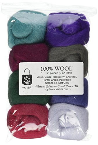 (Wistyria Editions Wool Roving 12