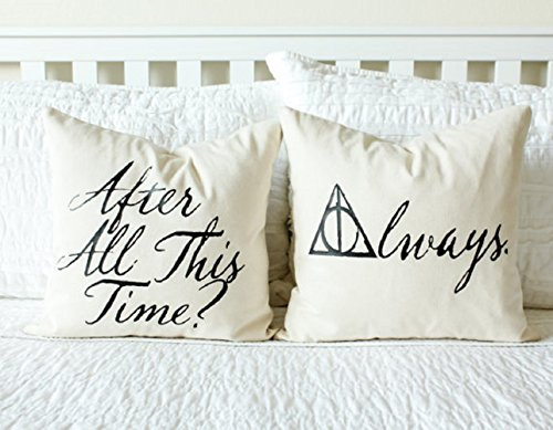 After All This Time? Always. Pillow Set - Personalizing Available, Wedding Gift, Anniversary Gift, Gift for Her, Decor, Book Lover Gift