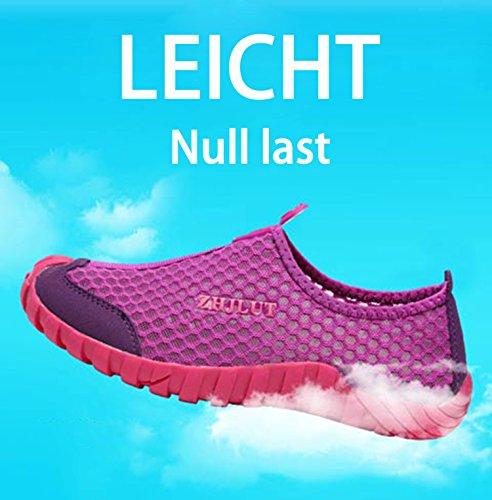Wanderschuhe Sandalen Breathable Outdoor Badeschuhe Violett Schnelltrocknend Herren Mesh Damen Sommer Putu Trekking FIq7w6Z6