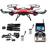 Womail JJRC H8D RC Quadcopter Drone 5.8G FPV HD Camera+Monitor+2 Battery Xmas Gift