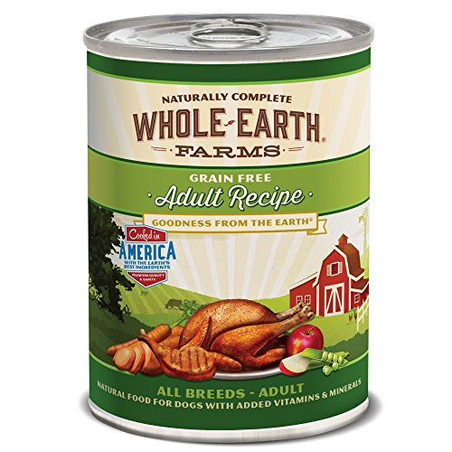 Whole Earth Farms Adult Recipe, 12.7-Ounce, Pack of 12 - All Natural Canned Dog Food