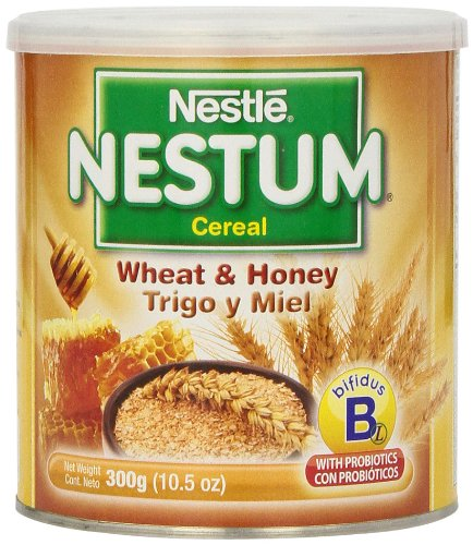 Gerber Baby Cereal Nestle Nestum Cereal, Wheat and Honey, 10.5 Ounce ( Pack of 12 ) by Gerber Baby Cereal