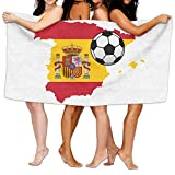 raikay Unisex Spain Map Flag Design Personalised Custom Bath Towels 100% Polyester,Superfine Fiber Super Absorbent,for Home/Bathrooms/Pool/Gym (31'' 51'')