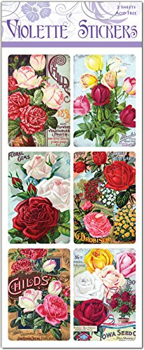 Rose Seed Packet Labels - (Seed Packet Postcards)