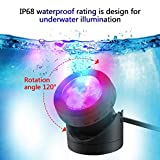 FOEERS Submersible LED Fountain Lights, 6W 500MA