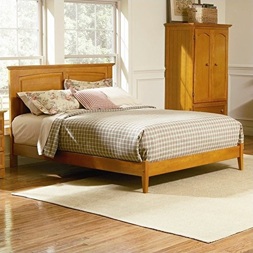 Atlantic Furniture Monterey Platform Bed with Open Footrail in Caramel Latte - Twin