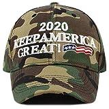 THE HAT DEPOT Exclusive Trump 2020'' Keep America Great 3D Cap (2020-Woodland)