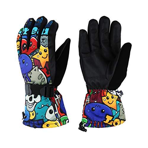 Degree F Womens Mens Cold Weather Waterproof Glove Magic Stretch Skull Winter Warm Ski Gloves(11,L) ()