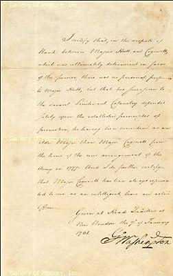 President George Washington - Manuscript Document - Signed January 7,1781