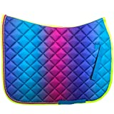 Tigerbox Colourful Magic Quilted Horse Saddle Pad with Braided Cord Trim
