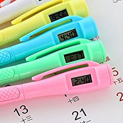 MAZIMARK--NEW Ballpoint Pen with Digital Watch Electronic Clock Student Office Stationery