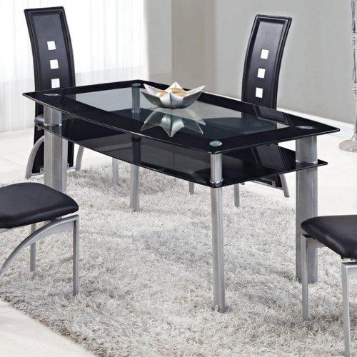 (Global Furniture USA D1058NDT-Global Furniture Piece Dining Table Black)