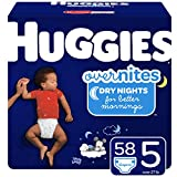 Huggies Overnites Nighttime Diapers, Size 5, 58 Ct