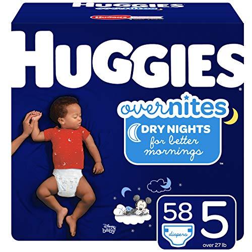 Huggies Overnites – Pañales de noche (talla 5, 58 unidades)