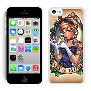 Lovely Cinderella Princess Case for iPhone 5c Generation in White
