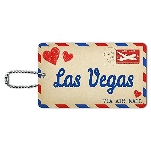 Postcard Vegas Luggage Suitcase Carry