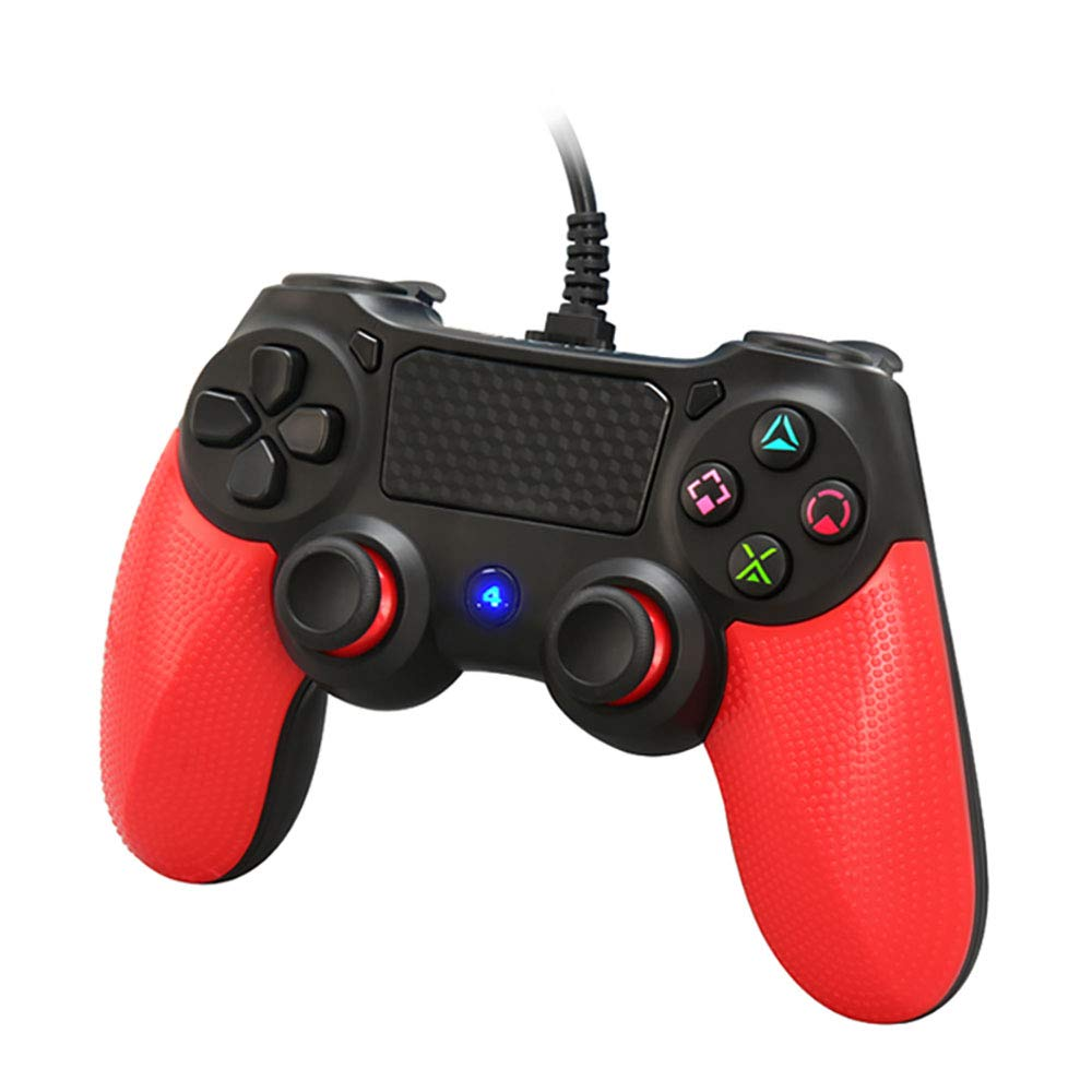 ps4 wired controller for playstation 4, movone professional usb ps4 wired  gamepad for playstation 4/ps4 slim/ps4 pro and playstation3 wired  controller cable