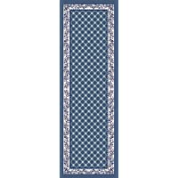 Home Dynamix Premium Aydin Runner Area Rug 19 x72 Border Country Blue