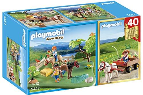 Playmobil-Country-Compact-Set-de-prado-poni-y-carreta-con-poni-5457