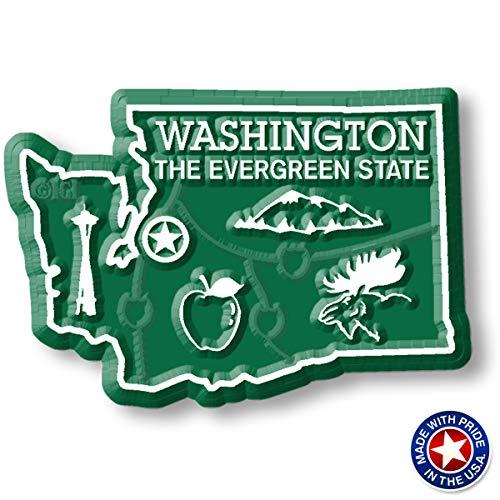(Washington State Map Magnet)