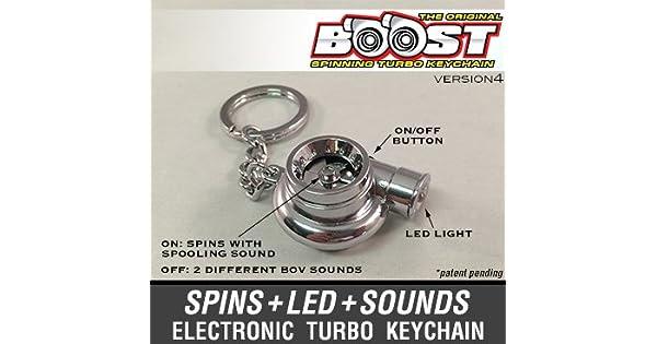 Amazon.com: boostnatics Electronic Spinning Turbo Llavero ...