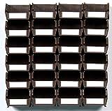 LocBin 3-220BRWS 26 Piece Wall Storage Unit, Brown