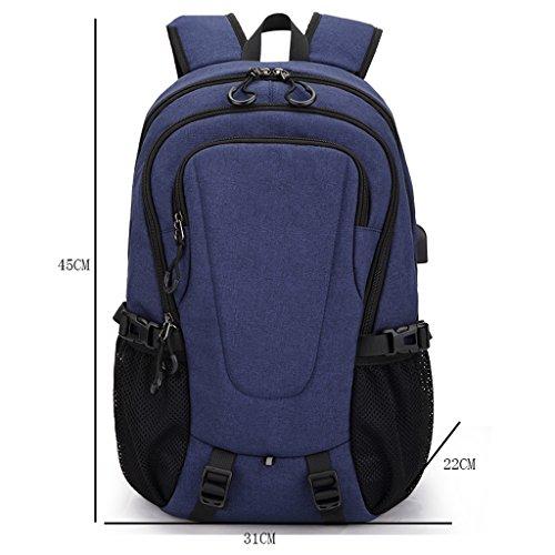 Sacchetti di spalla degli uomini di GUO - borsa di spalla degli uomini casuali di viaggio sacchetti di sport sacchetti di università borse universali tendenze di modo (31 * 22 * ??45cm) (azzurro)