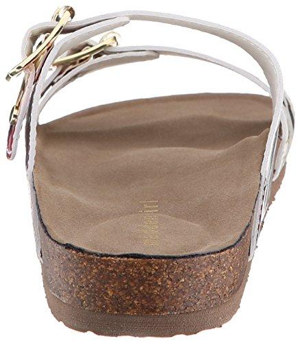 887865298632 - Madden Girl Women's Brando Flip Flop, White/Multi, 7.5 M US carousel main 1