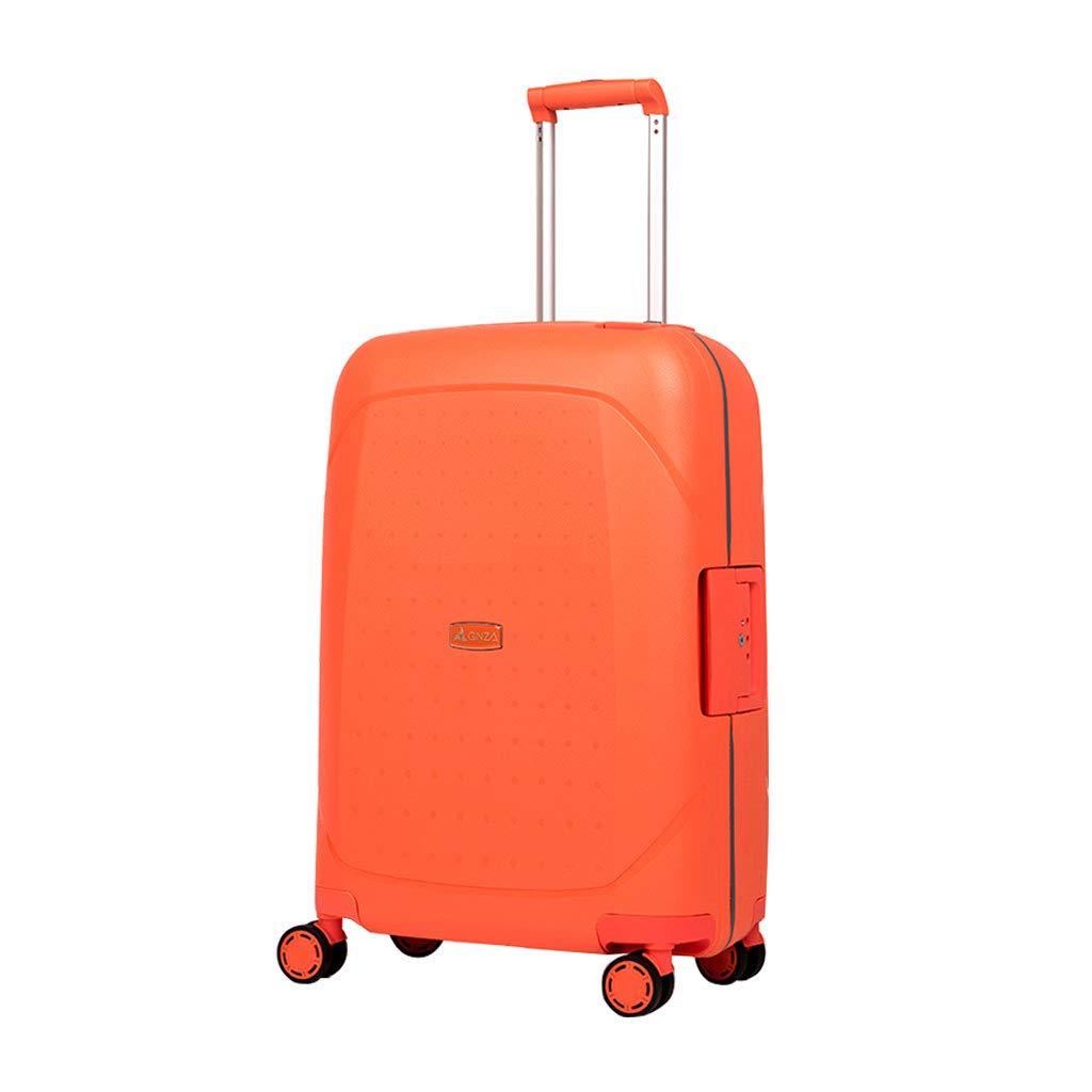 ハンド荷物スーツケース超軽量ABSハードシェル旅行は4つのホイール、航空&詳細情報のために承認されたハードシェルトロリーサイズのアドオンキャビンハンド荷物スーツケースキャリー B07P8NL3C2 A 45.5cm*26cm*67cm