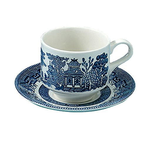 Blue Willow Delta Tea Cup and Saucer Set