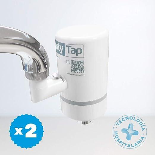 PrettyTap ~ 2 Filtros de Agua para la Cocina + Conector ~ Calidad ...