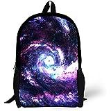 Backpacks For Girls Boys Galaxy Print Lightweight Teen School Bags-D0363C