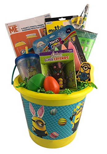 Or Other Occasion Perfect Baby Gift Ideas For Birthdays Christmas Minions Gift Basket For Baby Boys Baby Girls Unisex Children 12 Piece Bundle Filled Basket Of Fun Gift Set Get Well Easter