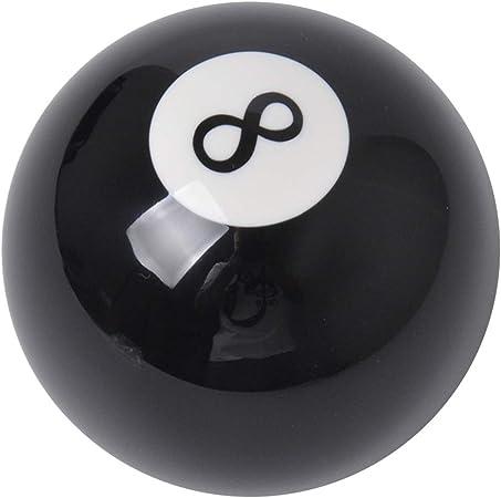 Guoxii pomo de palanca de cambio de marchas para coche, bola negra 8 forma de billar, universal, manual, palanca de cambios, acrílico, piezas de repuesto negras: Amazon.es: Coche y moto
