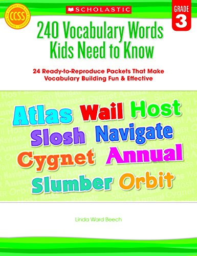 Scholastic 9780545468633 240 Vocabulary Words Kids Need to Know, Grade 3 (Synonyms And Antonyms Worksheet For Grade 1)