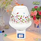 Allin Exporters Pluggable Ceramic Oil Aroma Burner Night Lamp - Electric Plug In Wax Melter Air Fragrance and Aroma Diffuser for Home, Office and Spa (Colour May Vary)