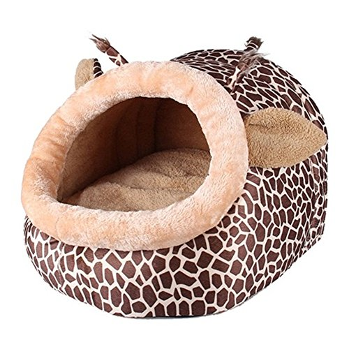 Pet Products Warm Soft Dog House Pet Sleeping Bag Leopard Dog Kennel Cat Bed Cat House Pet Supplies (Lamb Snuggler)