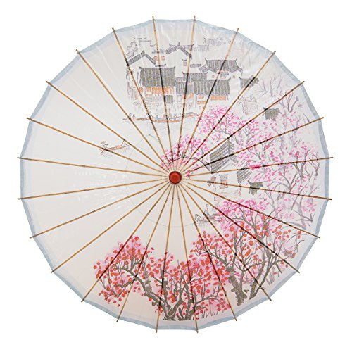 Oiled Paper Umbrella - THY COLLECTIBLES Rainproof Handmade Chinese Oiled Paper Umbrella Parasol 33