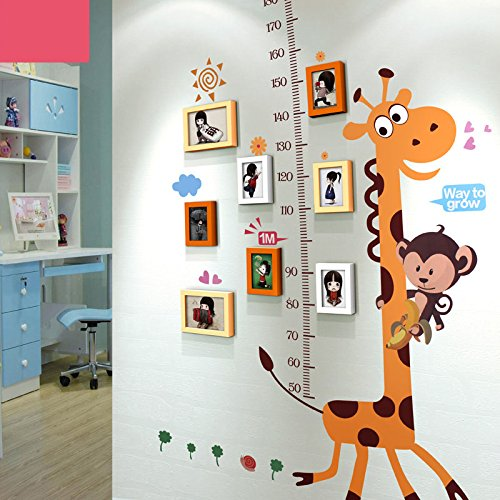 TIANTA- Giraffe Wall Stickers Frame Combination Solid Wood Frame Wall Creative Children's House Home Decorations Photo Wall adorn ( Color : #3 )
