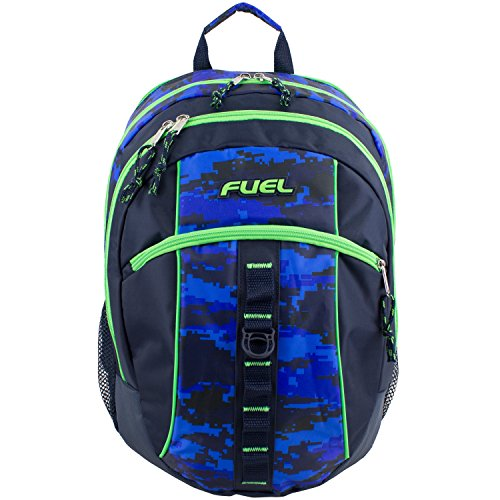 D&A 18'' Blue Green Multi Camouflage Pattern Backpack, Beautiful Camo Army Love by D&A (Image #2)