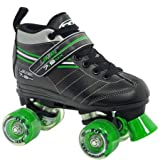 laser speed quad skates - Roller Derby Skate Corp Laser 7.9 Boys' Speed Quad Skates, Black