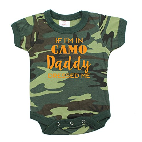 Daddy Camo Blanket (Father's Day If I'm In Camo Daddy Dressed Me Short Sleeve Infant Bodysuit 3-6M, Woodland Camo)
