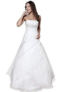 Wedding House A Linie Brautkleid Hochzeitskleid Organza Tragerlos
