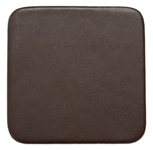 Dacasso Chocolate Brown Leatherette Square Coaster (A3455) - Coaster Chocolate