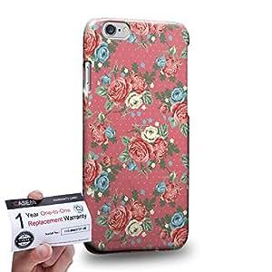 "Case88 [Apple iPhone 6 / 6s (4.7"")] 3D impresa Carcasa/Funda dura para & Tarjeta de garantía - Art Drawing Fashion Pink Blossom Floral Pattern"